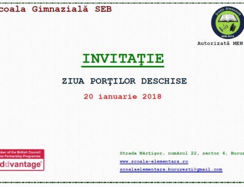 Invitatie la ziua portilor deschise