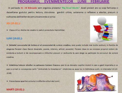 Program evenimente Februarie 2018
