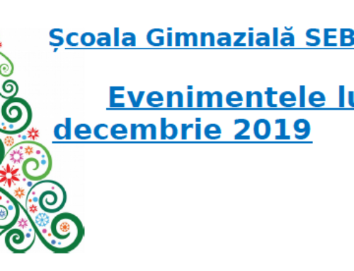 Evenimente luna Decembrie 2019