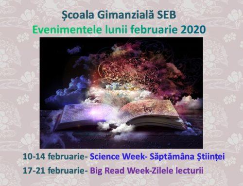 Evenimentele lunii Februarie 2020